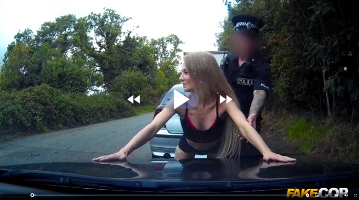 Carmel Anderson in in a FakeCop video